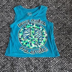 LIGHT BLUE JUSTICE TANK TOP SIZE 16 GIRLS